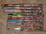 Clay Covered Crochet Hooks