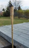 Wooden Weaved Tiki Torch-Stock