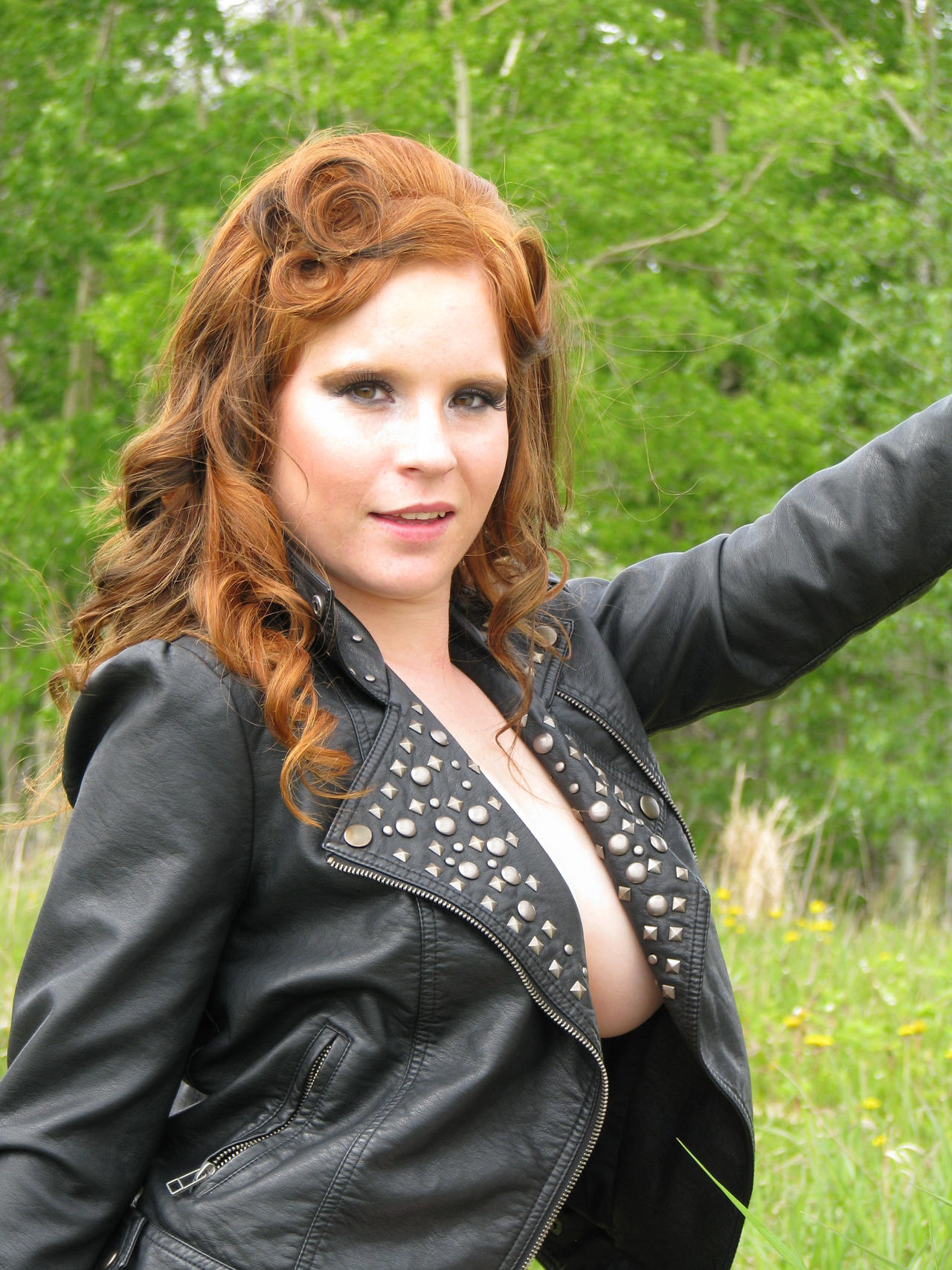 Leather and breasts-Stock