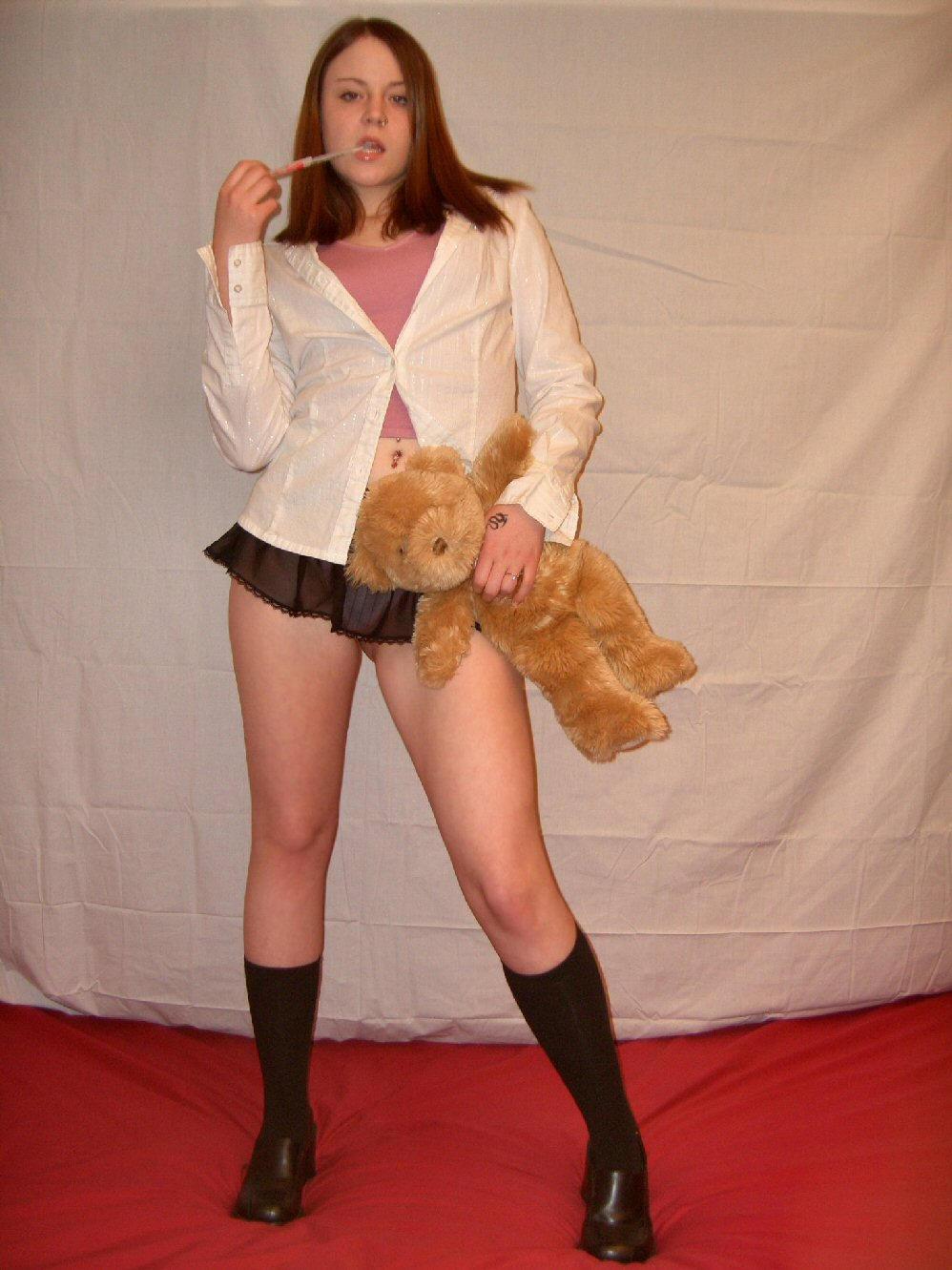 short skirt,school girl3-Stock by Swordexpert-Stock