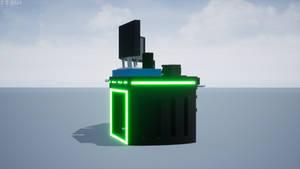 'Scimitar Shell' Gaming Desk Render 3