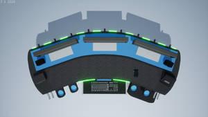 'Scimitar Shell' Gaming Desk Render 4