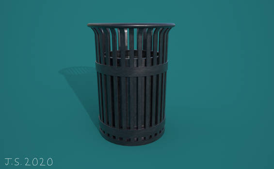City Trash Can Render