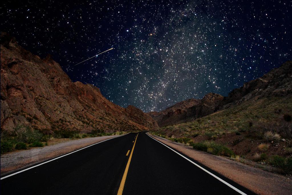 Night stars wallpaper by angela white on deviantart - Space wallpaper road ...