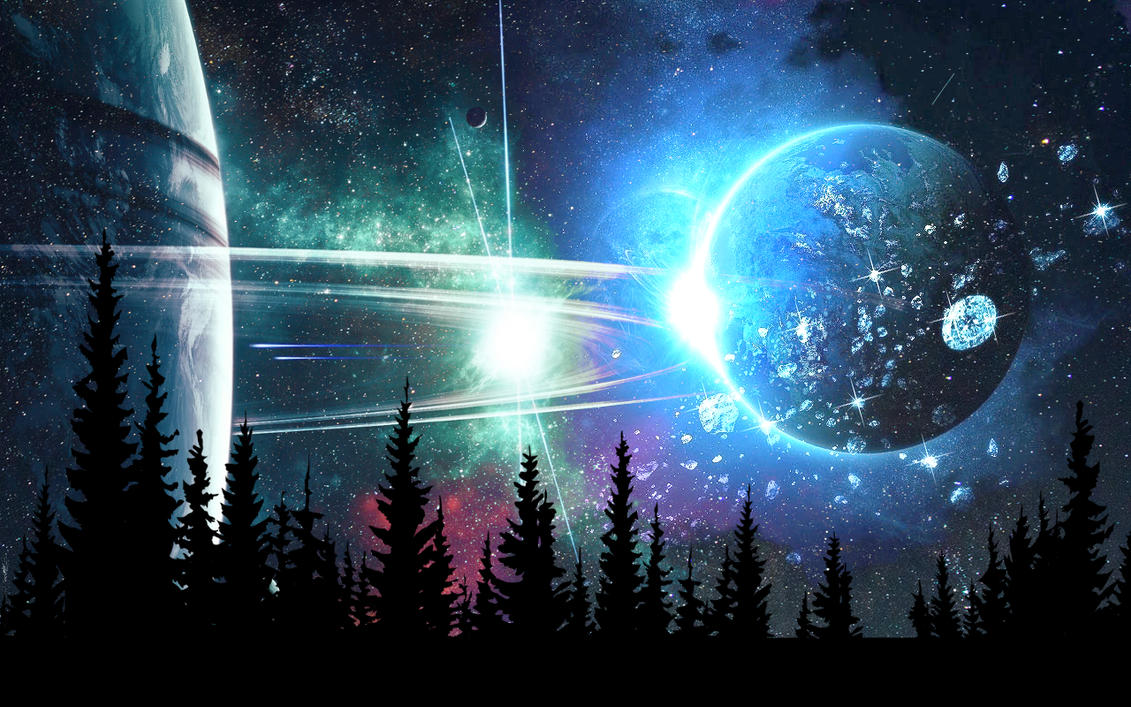 Space Landscape Wallpaper by Angela-White