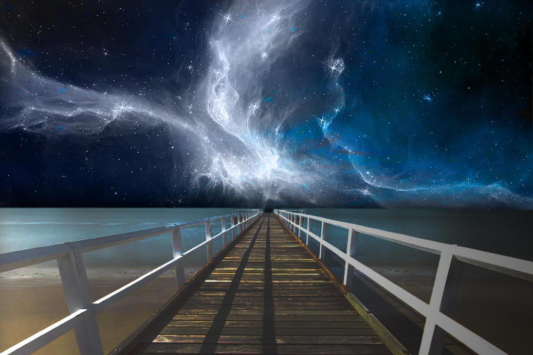 Magic Night on the Beach by Angela-White