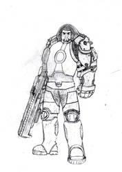 shane, Drawing 13 - Marine by Awesom-O-5000