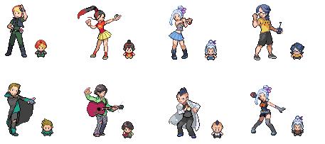 Pokemon female character sprites