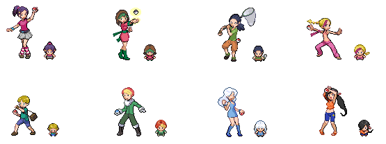 More Trainer Sprites for my Fanfic by Rogue-lei