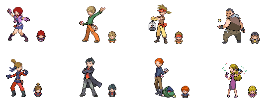 Lots More Trainer Sprites by Rogue-lei
