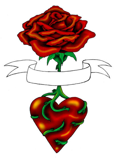 Rose Heart Tattoo by ~Annikki on deviantART