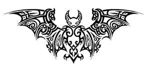 Tribal Bat Tattoo by Annikki