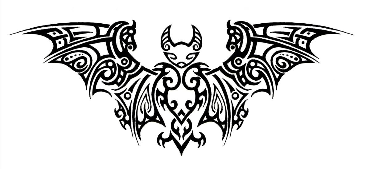 tribal bat tattoo by annikki on deviantart. Black Bedroom Furniture Sets. Home Design Ideas