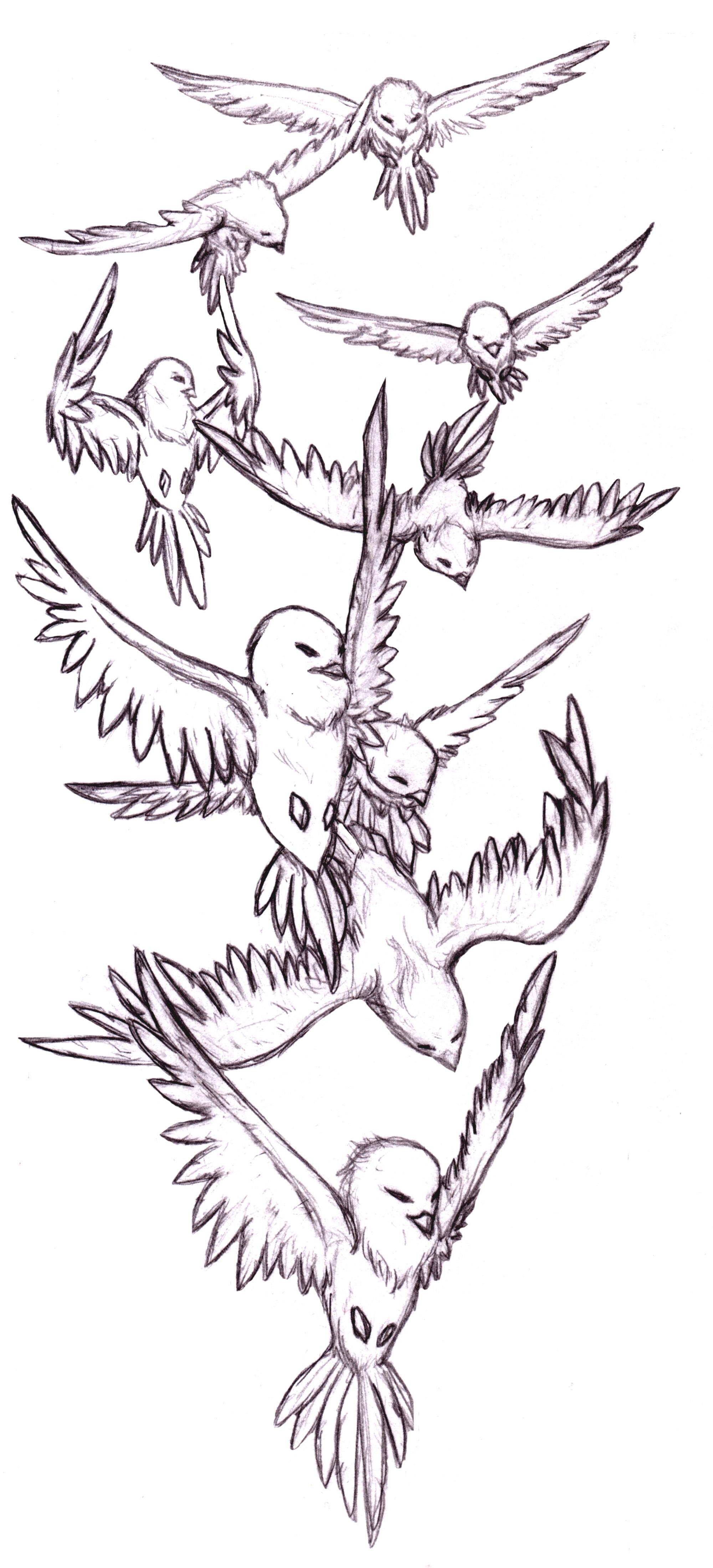 bird tattoo1 by annikki on deviantart. Black Bedroom Furniture Sets. Home Design Ideas