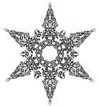 Tribal Celtic Snowflake Tattoo