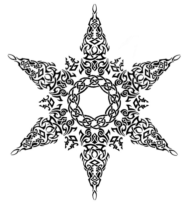 Tribal Celtic Snowflake Tattoo by Annikki