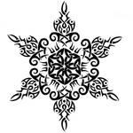 TribalCeltic Snowflake Tattoo2