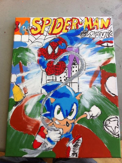 spider man vs sonic my front cover art by bigmacchasi on deviantart