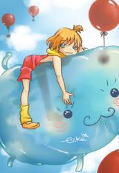The Fluffy Monster by Erikari
