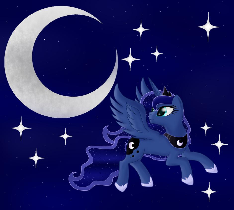 Princess Luna by someponyhere