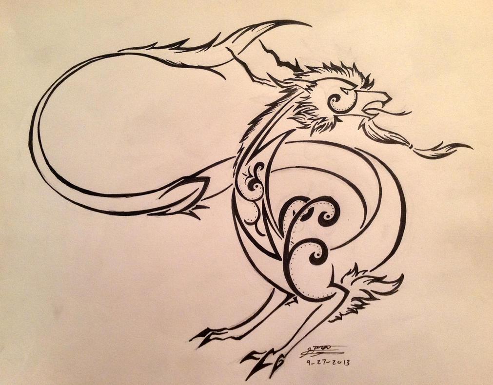 AT-Eastern Dragon Tribal by EmeraldRainDragon