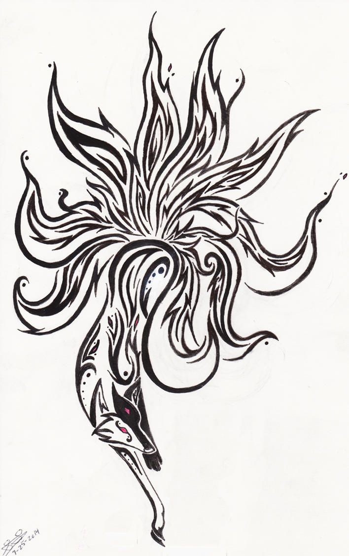 kitsune tribal by emeraldraindragon on deviantart. Black Bedroom Furniture Sets. Home Design Ideas