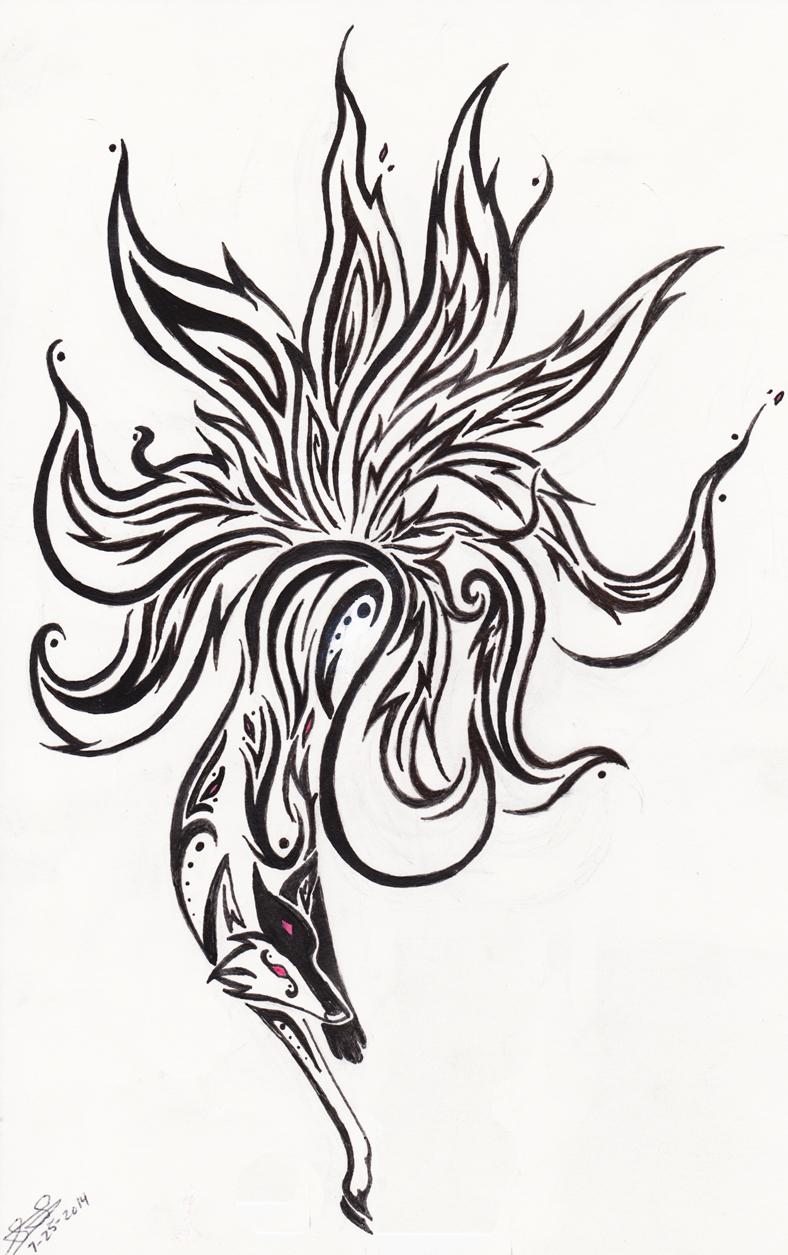 Tattoo's For > Tribal Nine Tailed Fox Tattoo Designs ... |Tribal Nine Tailed Fox Tattoos