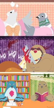 Hatoful Boyfriend Postcards