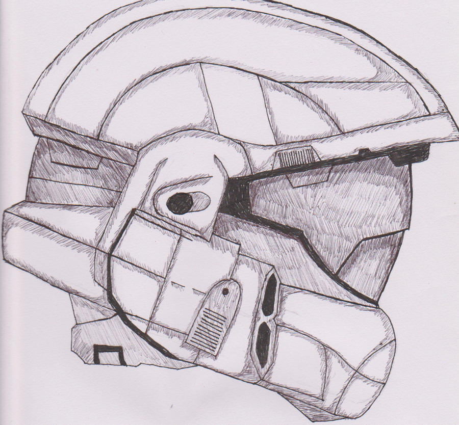 ImageSpace - Halo Odst Helmet Drawing   gmispace com