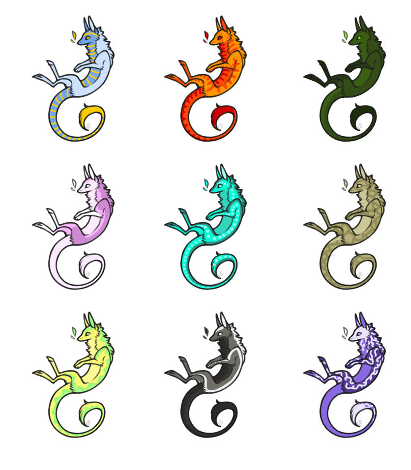 Freinn Dragons for Adoption!!!! PRICE LOWERED!!!!! by talons-and-tails