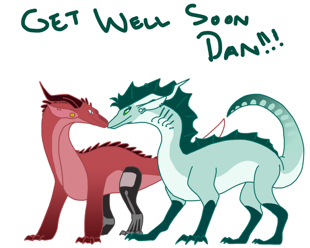 GET WELL SOON DAN!!! (gift for RealTense) by talons-and-tails