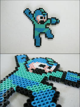 Megaman (jumping and shooting) bead sprite