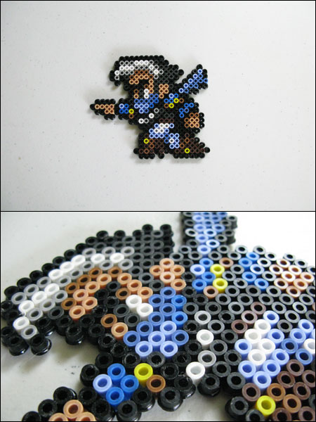 Final Fantasy 4 Edge bead sprite by 8bitcraft