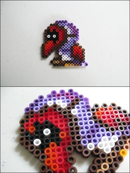 Super Mario 2 Tweeter bead sprite by 8bitcraft