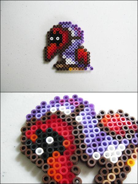 Super Mario 2 Tweeter bead sprite by 8bitcraft