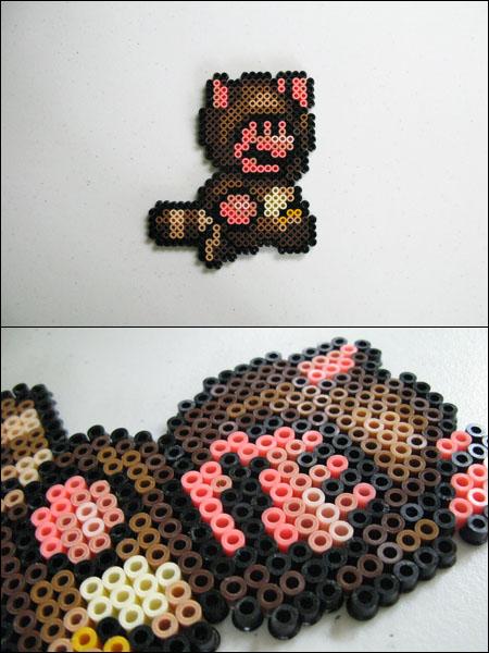 Tanuki Mario bead sprite by 8bitcraft