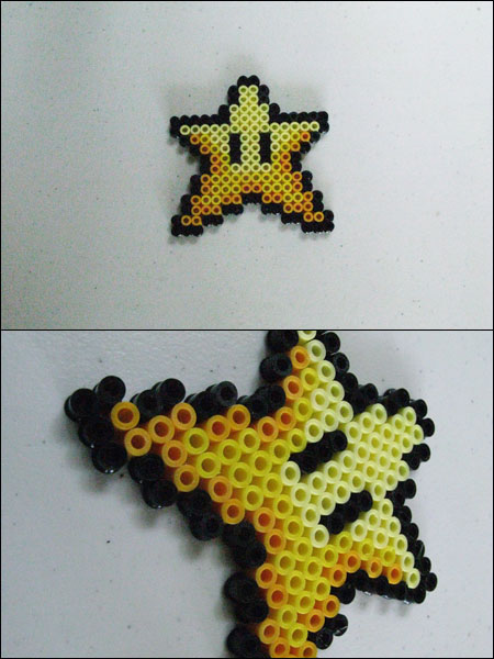 Super Mario 3 Star magnet by 8bitcraft