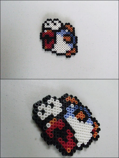 Super Mario Bros fish bead sprite by 8bitcraft