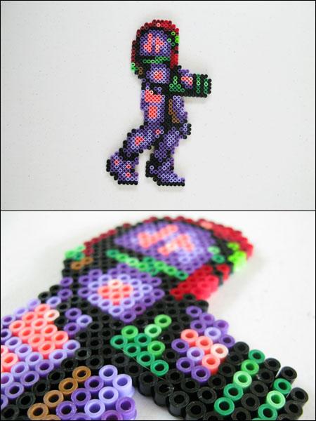 Super Metroid Samus gravity suit bead sprite magne by 8bitcraft