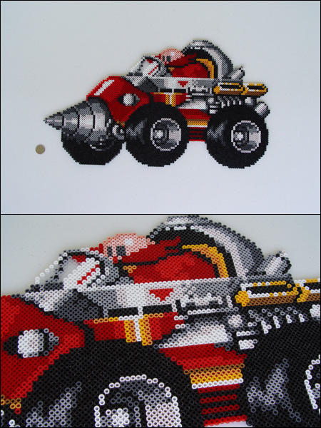 Sonic The Hedgehog Robotnik Riding Drill Car By 8bitcraft On Deviantart