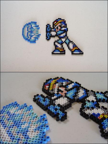 Megaman xx shooting Haduken bead sprite by 8bitcraft