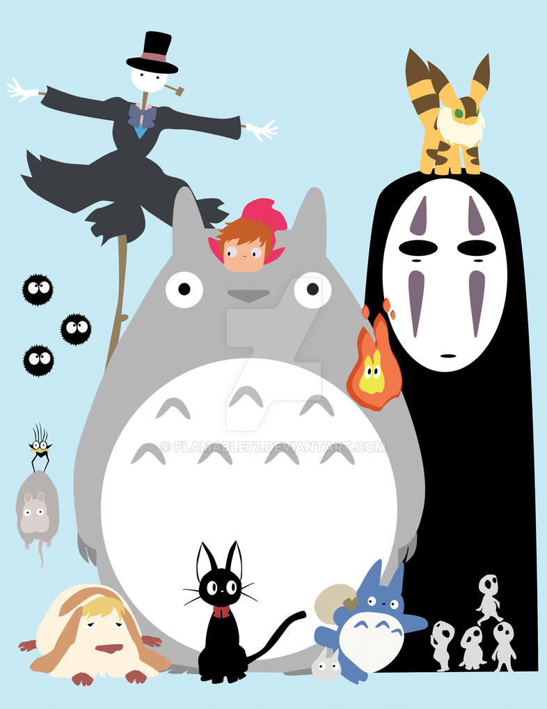 The Ghibli Gang by flamable77