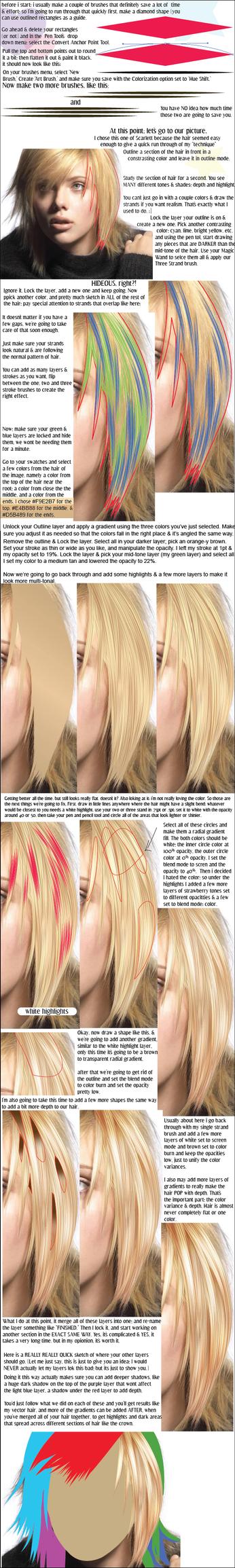 vector hair tutorial by smashbabyy