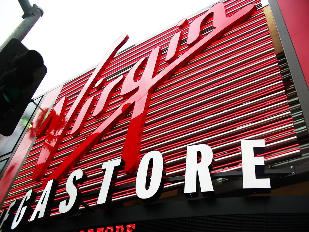 Virgin atlantic music store