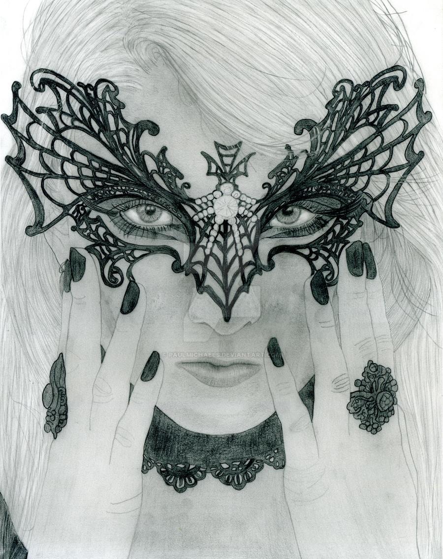 Maria Amanda Schaub in Masquerade Mask by PaulMichaels