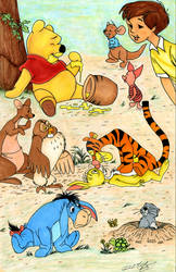 Winnie The Pooh and the rest of the gang.