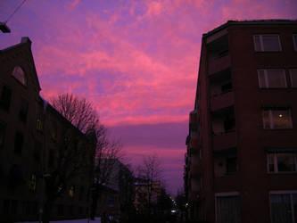 The sky in Oslo