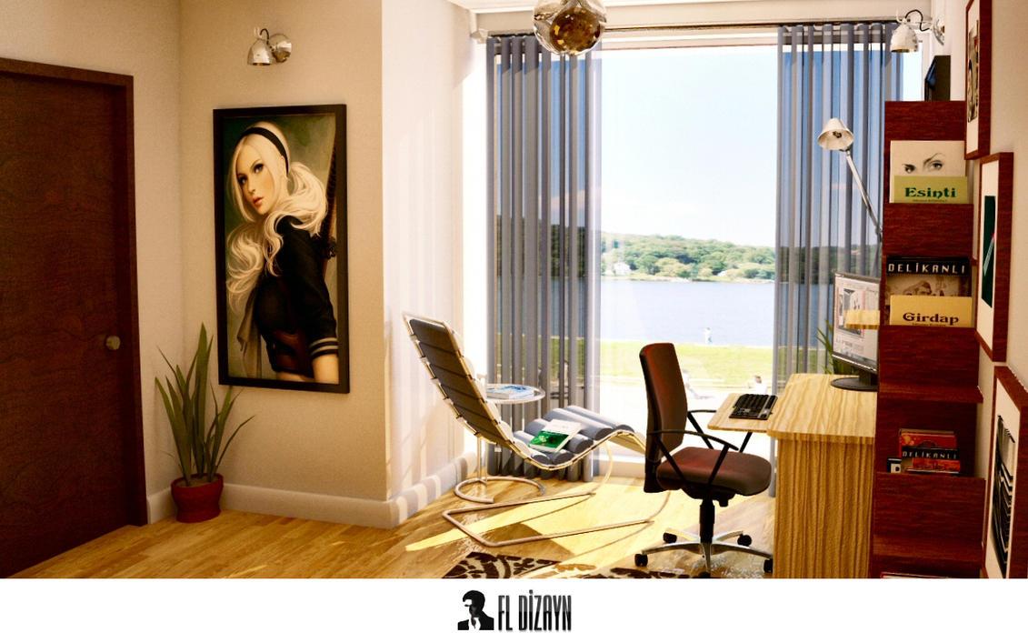 maxon cinema 4d interior design 3 by fldizayn on deviantart. Black Bedroom Furniture Sets. Home Design Ideas