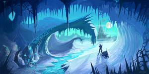 background ice planet
