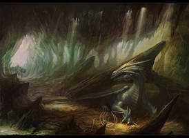 Cavern of dragon by neisbeis